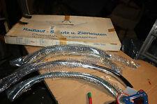 Mercedes W124 - 4 Stück Radlauf Schutz Zierleisten Chromstahl Hochglanzpoliert