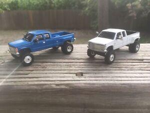 ERTL 1:64 Chevy Dually Custom Lifted Lot of 2 Trucks