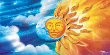 "Sun and Moon Towel Celestial Day and Night Beach Pool Souvenir 30""x60"""