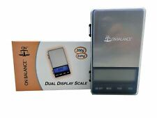On Balance 200g 0.01g Dual LCD DIsplay Digital Pocket Mini Scale Pouch