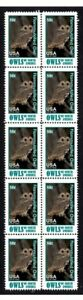 NTH AMERICAN FLAMMULATED OWL STRIP 10 MINT VIGNETTE STAMPS