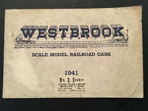K) Original 1941 Westbrook Scale O Gauge Model Train Railroad Cars Locomotives