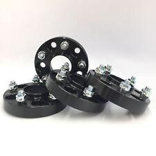 4pcs Black 1 Inch Hub Centric Wheel Spacers ¦ 5x114.3 (5X4.5) ¦ 12X1.25 (25mm) (Fits: Infiniti)