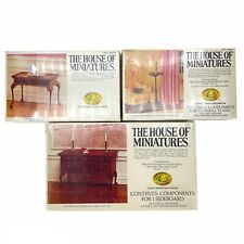 X-ACTO The House Of Miniatures Lot (3) Sideboard, Candle Stand, And Tea Table