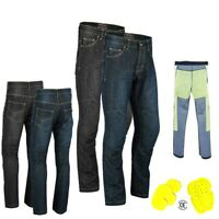 Mens Motorcycle Jeans Denim Motorbike Pants Made with Kevlar Trousers CE Armours
