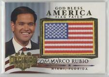 2016 Decision God Bless America Flag Patch Gold #GBA11 Marco Rubio Card 0af
