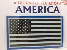 "Reflective USA American Flag Vinyl Window Sticker Decal  2""x3.75"" (Blue)"