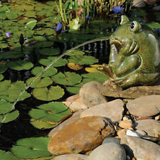 Yard Ceramic Frog Water Spitter Pond Aerator Fountain Garden Outdoor  Decorative