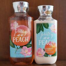 """Bath & Body Works """"pretty as a PEACH"""" shower gel & body lotion, NEW!"""