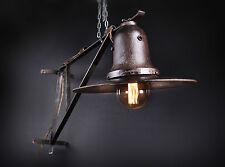 40 - 50er Alte draußen GUSSEISEN Lampe Fabrik Hängelampe LOFT LAMP Wandlampe