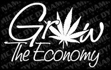 Grow the Economy Cannabis weed 420 medical marijuana Vinyl window decal sticker