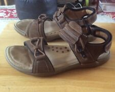 CLARKS MENS ACTIVE AIR VENT JUMP Brown LEATHER Sandals Shoes SIZE 7G
