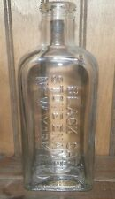 Old Antique Vintage Black Cat Stove Enamel Bottle New York, N.Y.