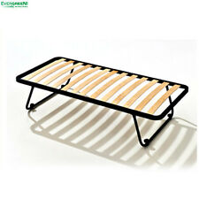 "Openable Slatted Iron Bed Base Space-Saver Single 2ft6"" x 6ft3"" (80 x 190 cm)"