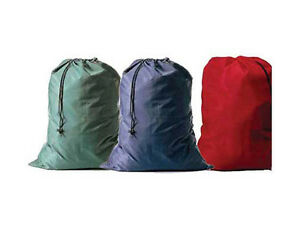 """Color Heavy Duty Jumbo Size Nylon Laundry Cleaning Bag Blue Green 30""""x40"""" inches"""
