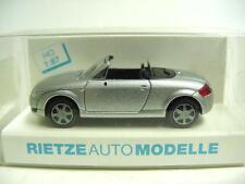 1:87 RIETZE 1999 AUDI TT Roadster silver met. RARE & COLLECTIBLE MODEL CAR !!!