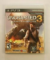 Uncharted 3 Drake's Deception Sony PlayStation 3, 2011 Action Adventure Shooter