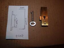 BRASS CABINET / DRAWER LOCK  - stamped 0 & S