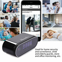 1080P HD Mirror Alarm Clock Home Security Camera WIFI app Control Motion Detect