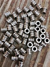 Spacer Beads 30 Antique Silver 6mm X 6mm  Very Nice!