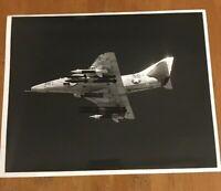 NAS Lemoore CA Naval A-4F Skyhawk Attack Aircraft In Flight Photograph 1976