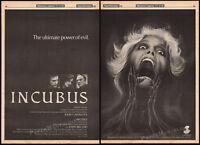THE INCUBUS__Original 1981 Trade AD film promo / horror poster__JOHN CASSAVETES