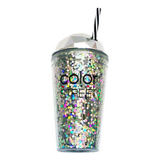 COLOR STREET Tumbler HOLOgraphic GLITTER Double Walled Cold Beverage Travel CUP