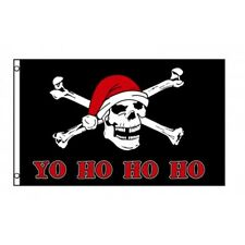 Yo Ho Ho Ho Pirate Santa Flag Banner Sign 3' x 5' Foot Polyester Grommets