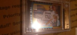 tom brady bowman chrome rookie bgs 9.5