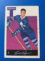 Bill Harris 1962-63 Parkhurst Hockey Card #1 Toronto Maple Leafs  See Photos