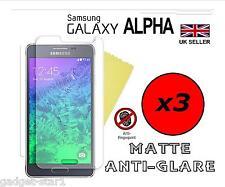3x HQ MATTE ANTI GLARE SCREEN PROTECTOR COVER GUARD FOR SAMSUNG GALAXY ALPHA