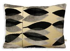 Sanderson Fabric Cushion Pillow Cover Miro Black Silver Cut Velvet