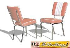 co-24 rose BEL AIR Meuble 2 chaises dîner de cuisine dans le style 50er ans USA