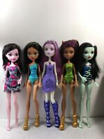 Monster High - 5 Doll Lot (not fully articulated) - Used
