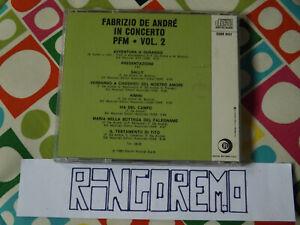 Cd Fabrizio De Andre in Concerto PFM Vol. 2