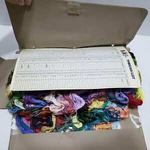 Vintage 1979 LoRan Thread Organizer Color Floss & Master Cards