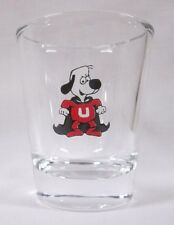 Under/Dog Character Image on Clear Shot Glass
