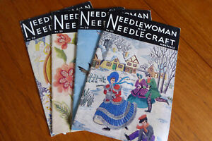 4 copies Needlewoman and Needlecraft 1940s