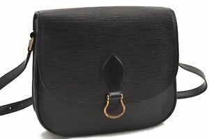 Authentic Louis Vuitton Epi Saint Cloud GM Shoulder Bag Black LV B3123