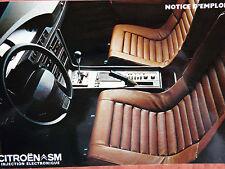 Notice d'emploi - Citroën SM IE