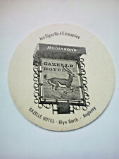 Vintage ROBINSONS - INN SIGNS - GAZELLE HOTEL - Cat No'102 -  Beermat / Coaster