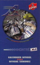2004 MONTREAL ALOUETTES CFL FOOTBALL SCHEDULE -  FRENCH  AND ENGLISH