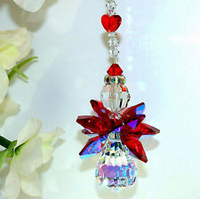 m/w Swarovski Crystal Rare Ab Body + Rare Wings Heart Angel Car Charm Suncatcher