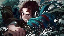 More details for demon slayer poster anime manga art print wall  a5  a4 a3 a2 a1 a0 /v3