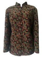 ART TO WEAR Quilted Indian Velvet Jacket Padded Eastern Hippie Indie Boho UK 12