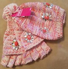 ABG Accessories Girls' Jeweled Hat and Popover Glove Set