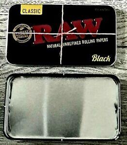 Raw Black Rolling Tobacco Metal Tin Storage Tin Box Rolling TIN Smoking