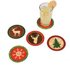 Pack of 12 - Cardboard Cozy Christmas Coasters
