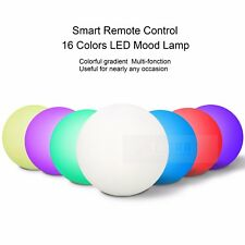 16 Colour RGB LED Mood Light Rechargeable Night Light W/Remote Home Decor