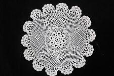 Vintage white round shaped crochet doily.